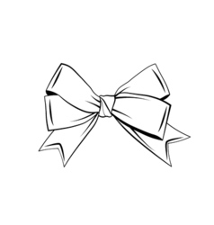 A bow ribbon gift in a vintage woodcut engraved vector