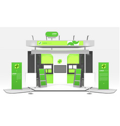 Green energy exhibition stand design vector