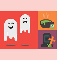 Halloween icons set traditional trick or vector