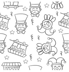 Hand draw circus object doodles vector