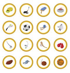 Sport cartoon icon circle vector