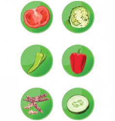 Icons veggies vector