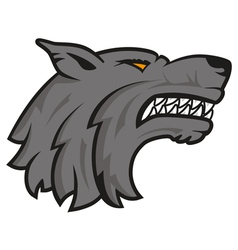 Logo wolf vector image