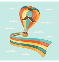 Design with air balloon in hipster style vector image