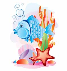 Fish in the sea vector
