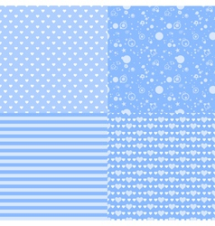 Set of romantic patterns vector