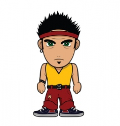 Chibi guy punk vector