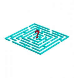 Labyrinth with question mark vector