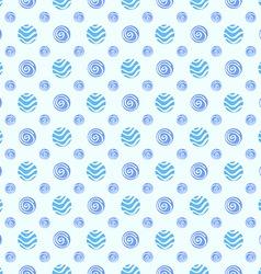 Blue soft polka dot seamless pattern vector image