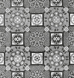 31 Abstract floral mosaic tile vintage vector image vector image