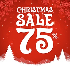 Christmas sale 75 percent vector