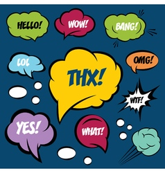 A set of comic bubbles and elements vector image