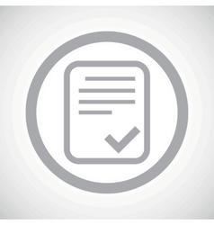 Grey approved document sign icon vector