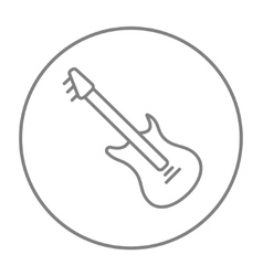 Electric guitar line icon vector