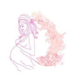 Beautiful pregnant girl vector image