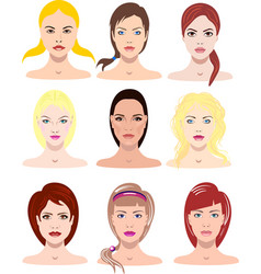 beautiful young girls with vector image vector image