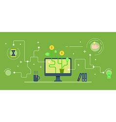 Business startup via web services e-commerce vector