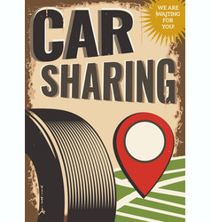 Car sharing vector