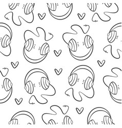 Collection music element pattern style vector