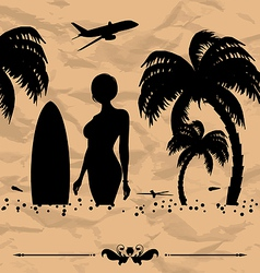 Design elements for summer holiday card vector image vector image