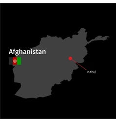 Detailed map of afghanistan and capital city kabul vector