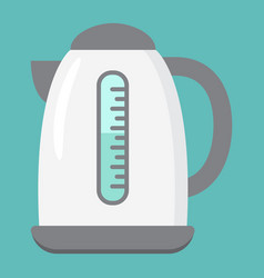 Electric kettle flat icon kitchen and appliance vector