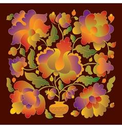 Folk flowers vector