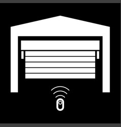 Garage door it is the white color icon vector