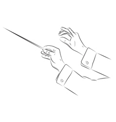 Hands of conductor vector
