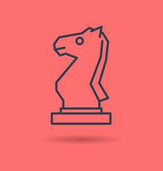isolated linear icon of chess knight vector image vector image