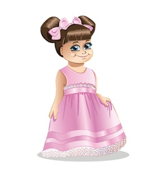 Little girl princess vector