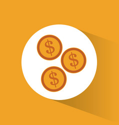 Money coins currency marketing design vector