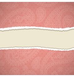 Retro paisley frame vector image