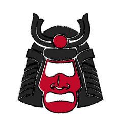 samurai face mask japanese warrior image vector image