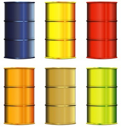 Set of barrels vector image vector image