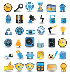 set social media icons vector image vector image