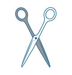 Sewing scissor tool vector