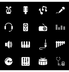 white music icon set vector image vector image