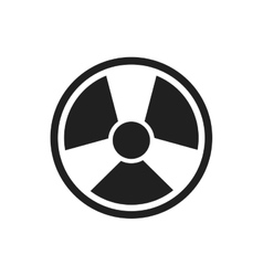 Biohazard industry plant silhouette icon vector