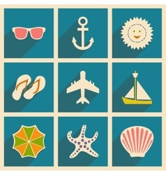 Flat with shadow concept and mobile application vector image
