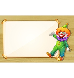A clown showing the empty board vector