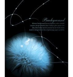 Romantic background with white dandelion vector