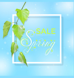 Spring sale typography vector