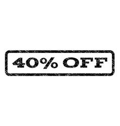 40 percent off watermark stamp vector