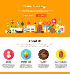 Web design easter greeting vector