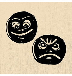 Lucky and sad masks vector