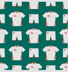 Soccer uniform template seamless pattern football vector