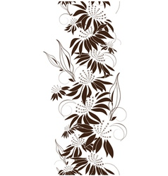 Seamless floral design vector