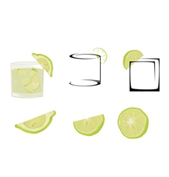 Cocktail caipiria vector