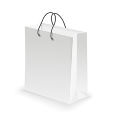 Empty shopping bag white vector
